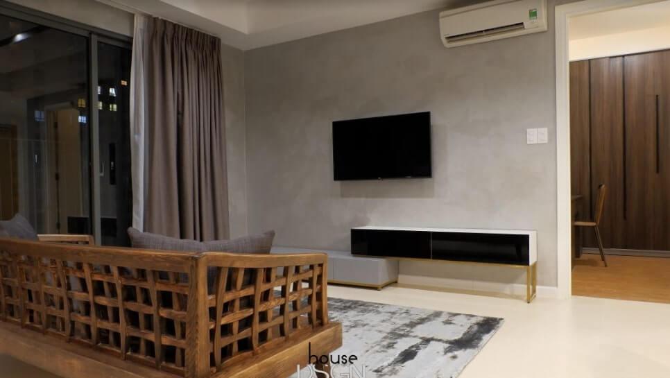 bố trí nội thất cho căn hộ 65m2 2 phòng ngủ hiện đại