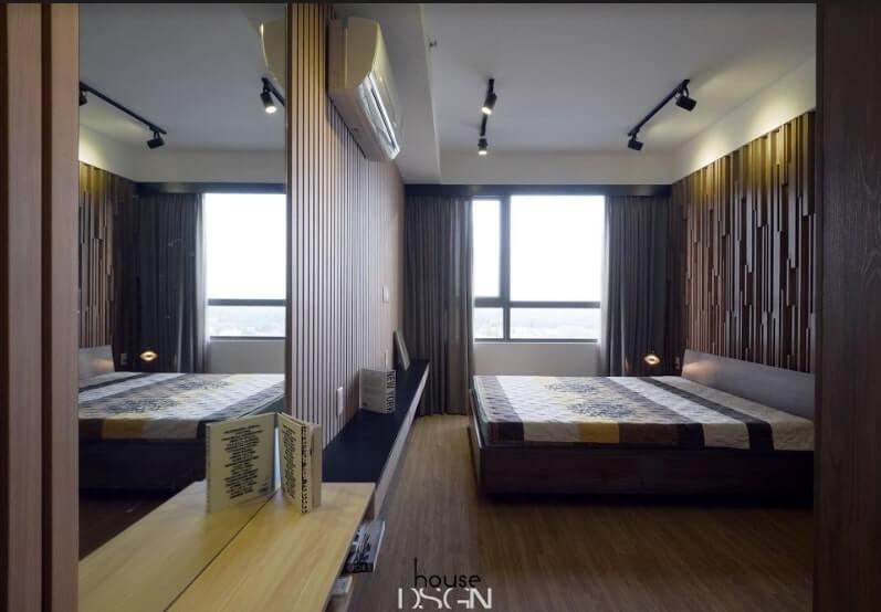 thiết kế 2 phòng ngủ cho căn hộ 65m2 tiện nghi
