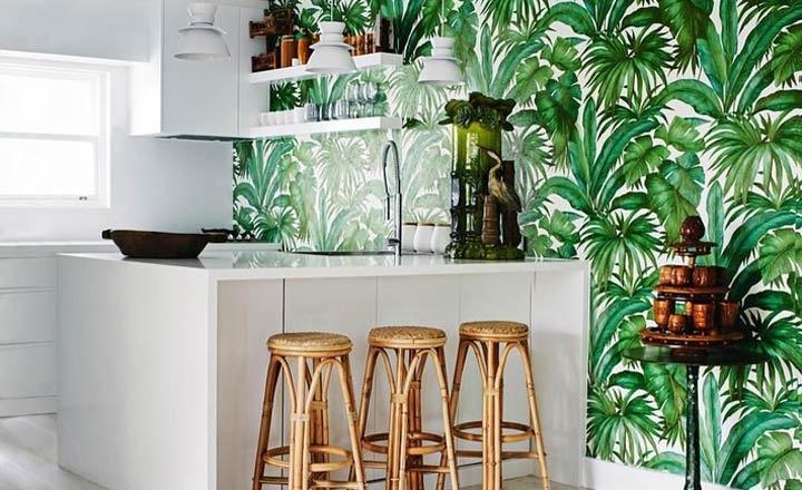 phong cách tropical cho phòng bếp