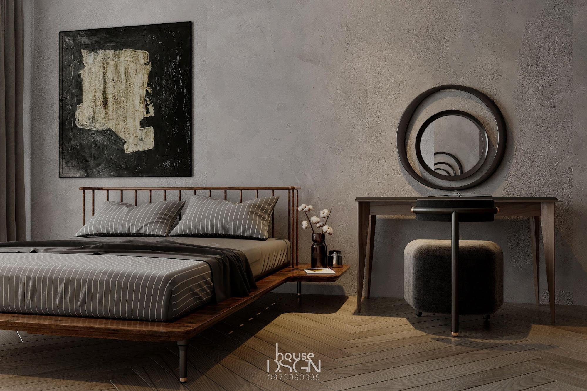 phòng ngủ trang trí theo phong cách nội thất tối giản