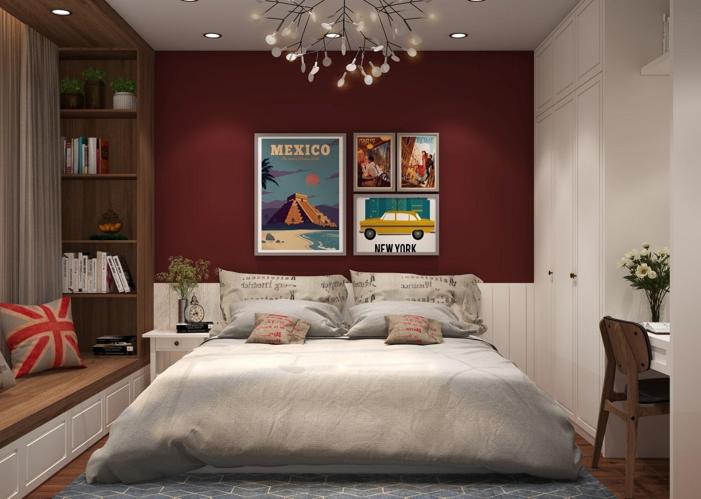 nội thất retro cho phòng ngủ