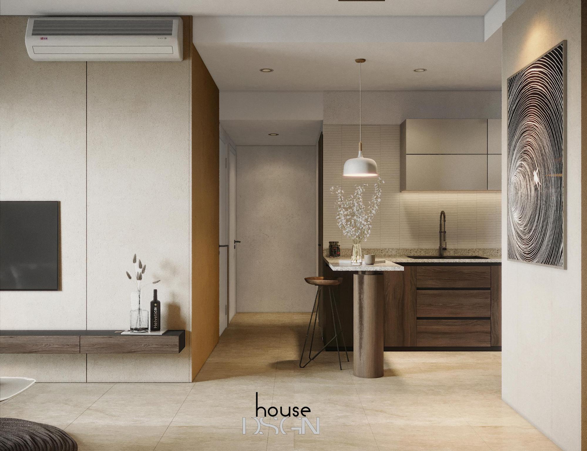 không gian sống với nội thất phong cách đương đại