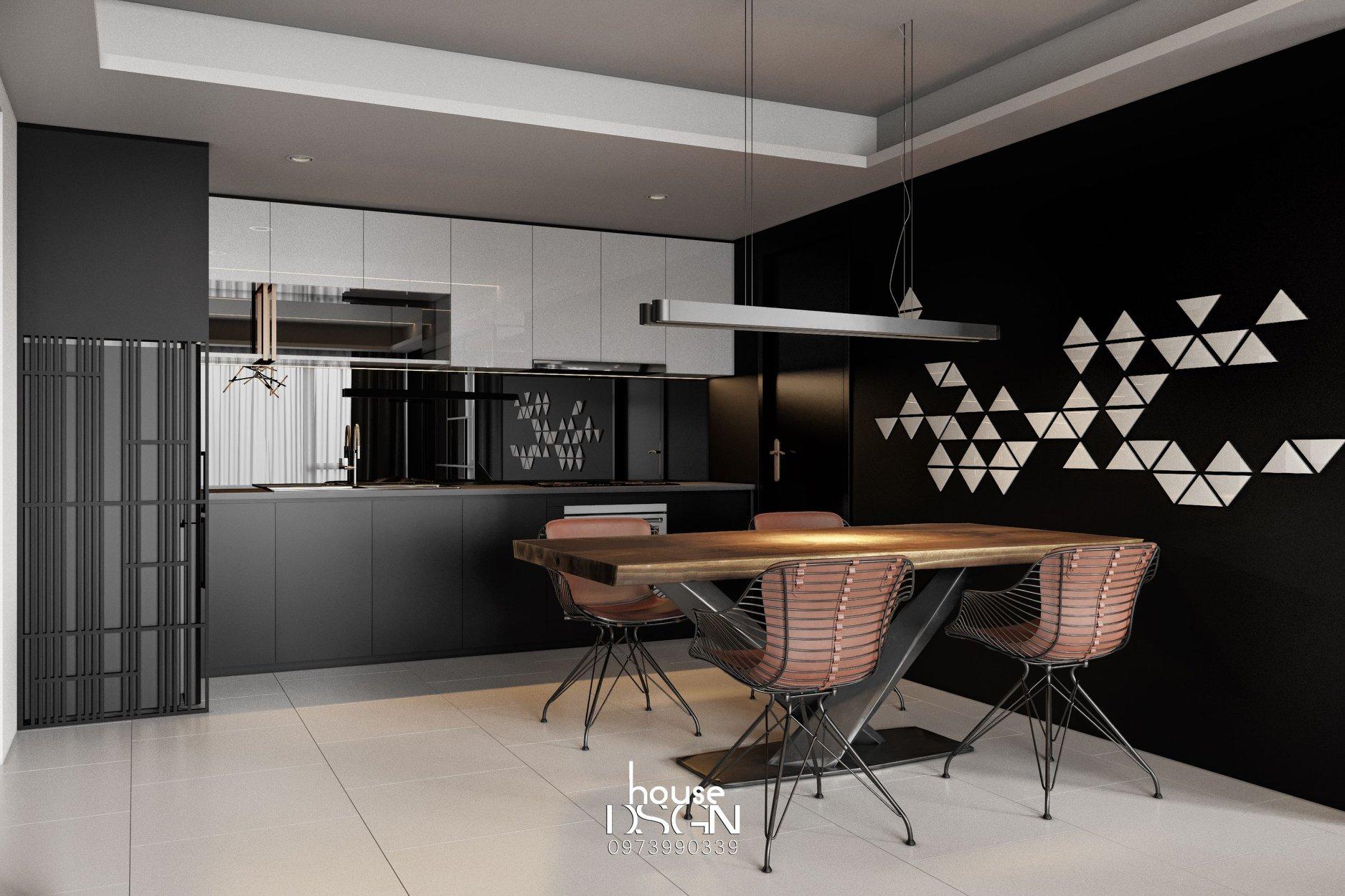 phòng ăn thiết kế phong cách nội thất tối giản