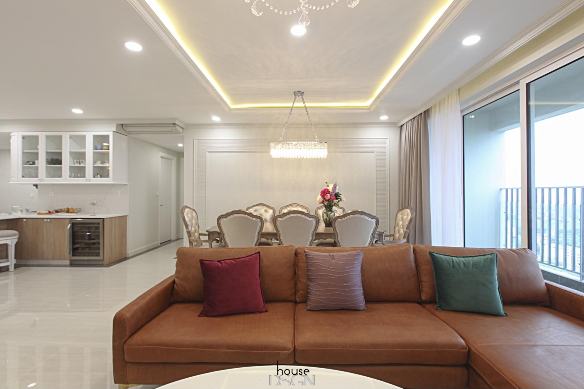 phòng khách căn hộ 3 phòng ngủ