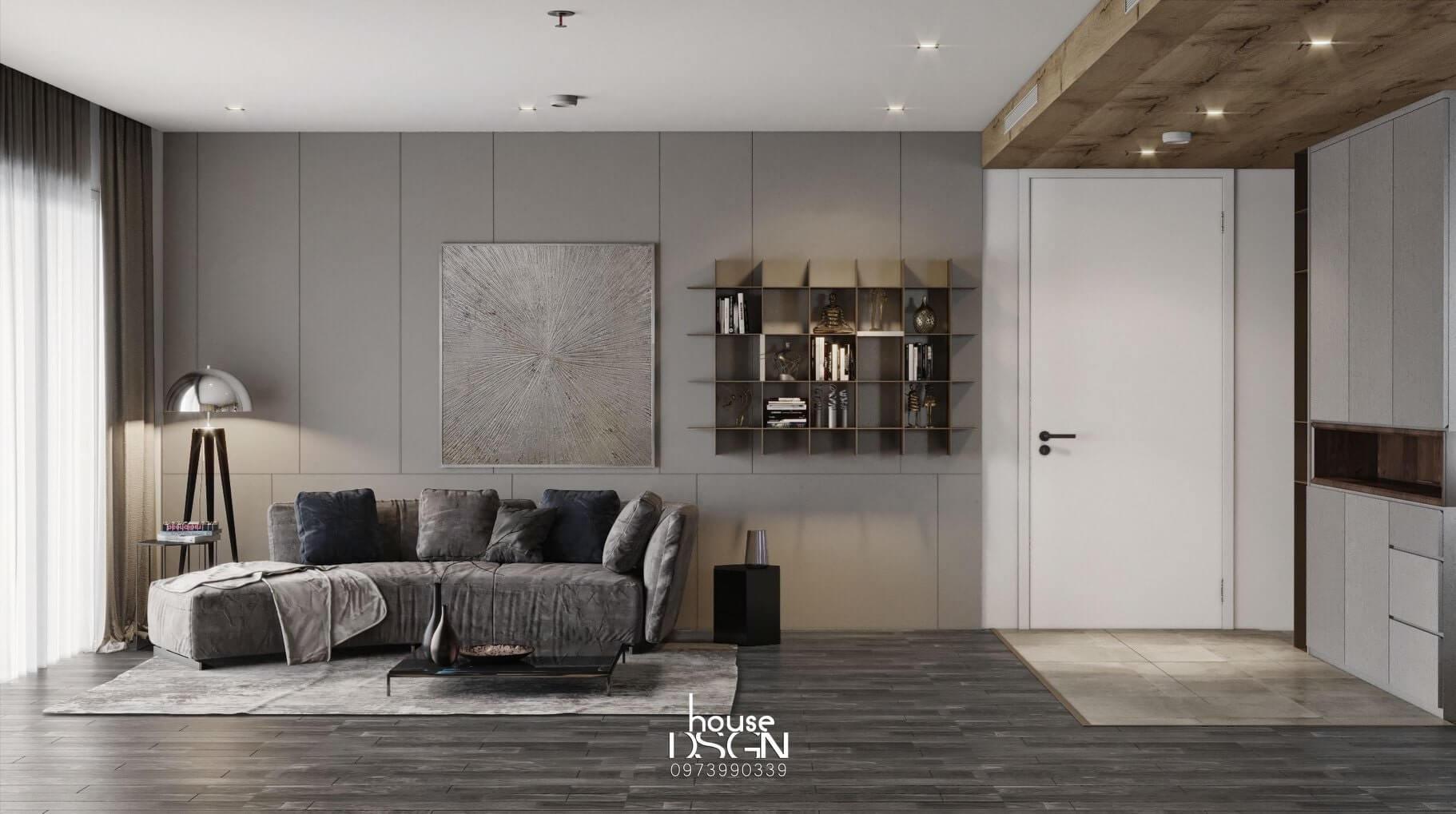 Interior design of 90m2 apartment