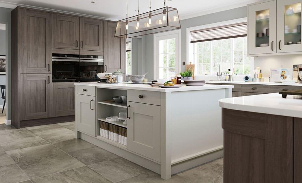 kết hợp màu sắc không gian bếp cổ điển - Housedesign