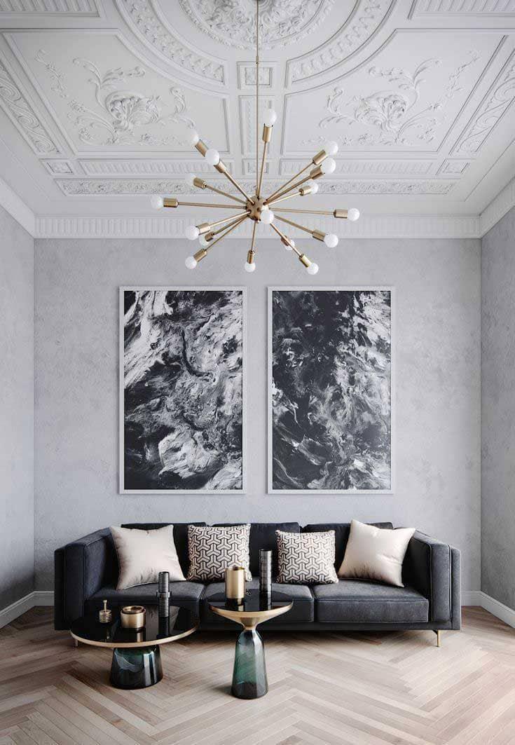 kiến trúc art deco trong phòng khách - Housedesign