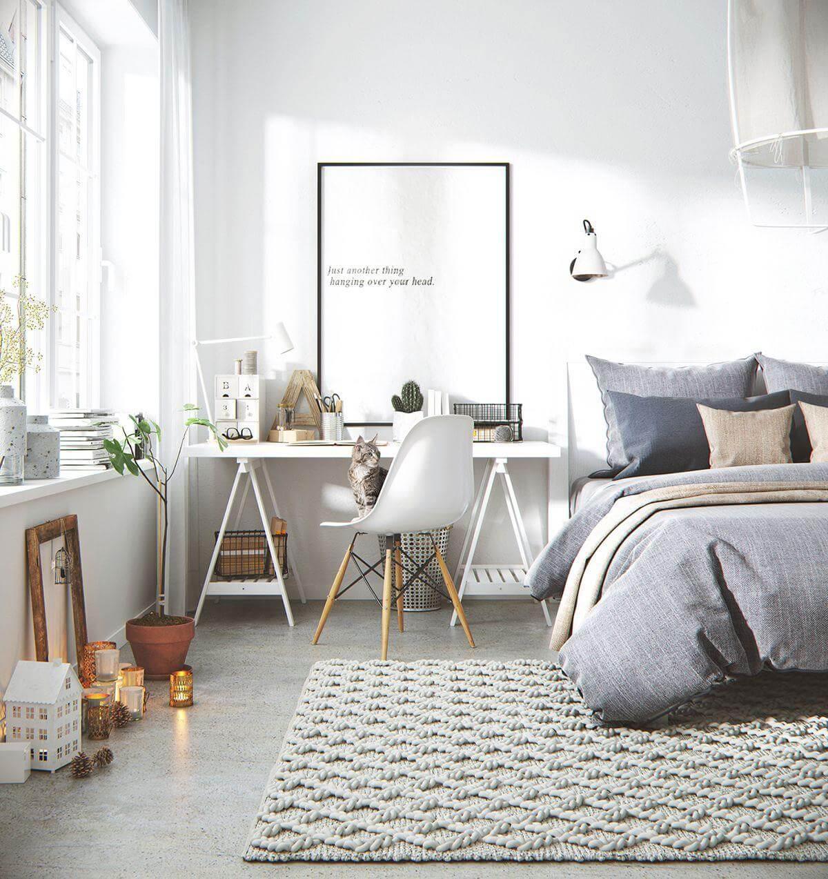 mẫu phòng ngủ phong cách Scandinavian đẹp