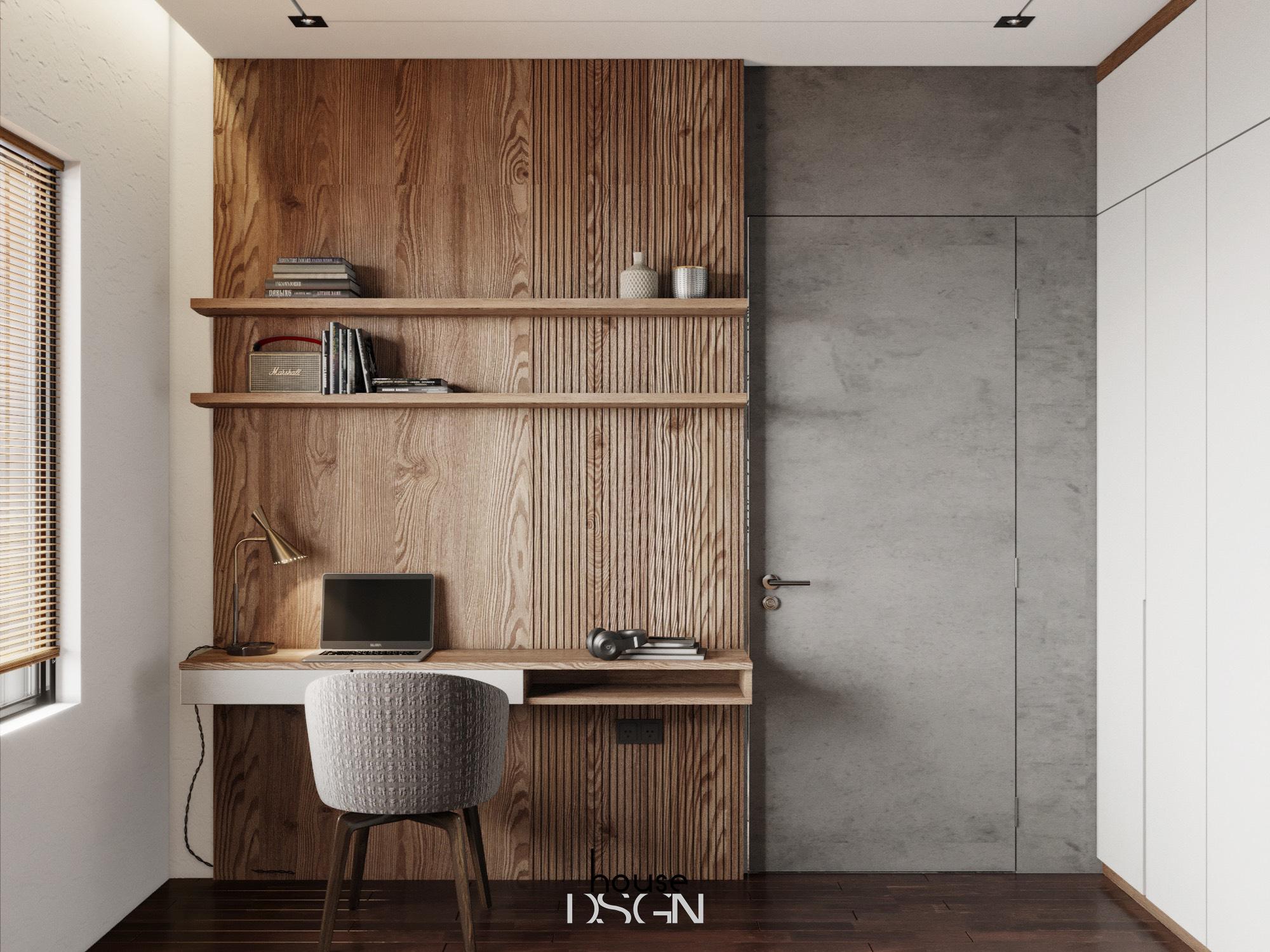 mẫu thiết kế căn hộ chung cư 60m2 tiện nghi