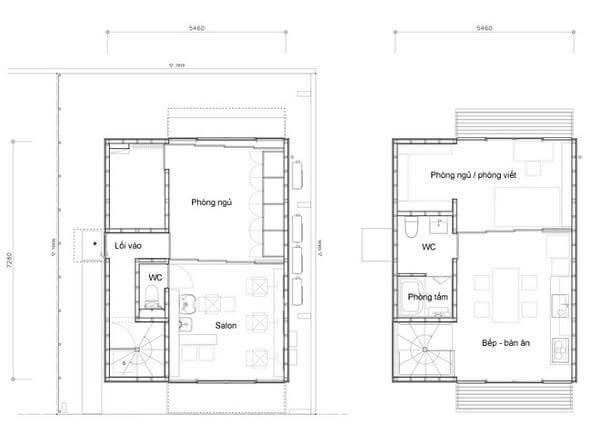 sơ đồ nhà gỗ đẹp đơn giản