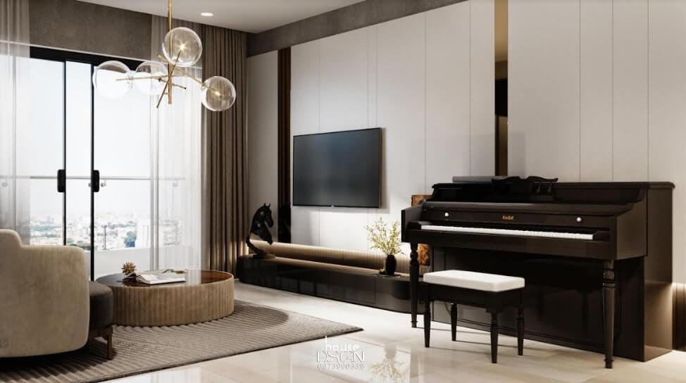 bố trí nội thất căn hộ 2 phòng ngủ đẹp