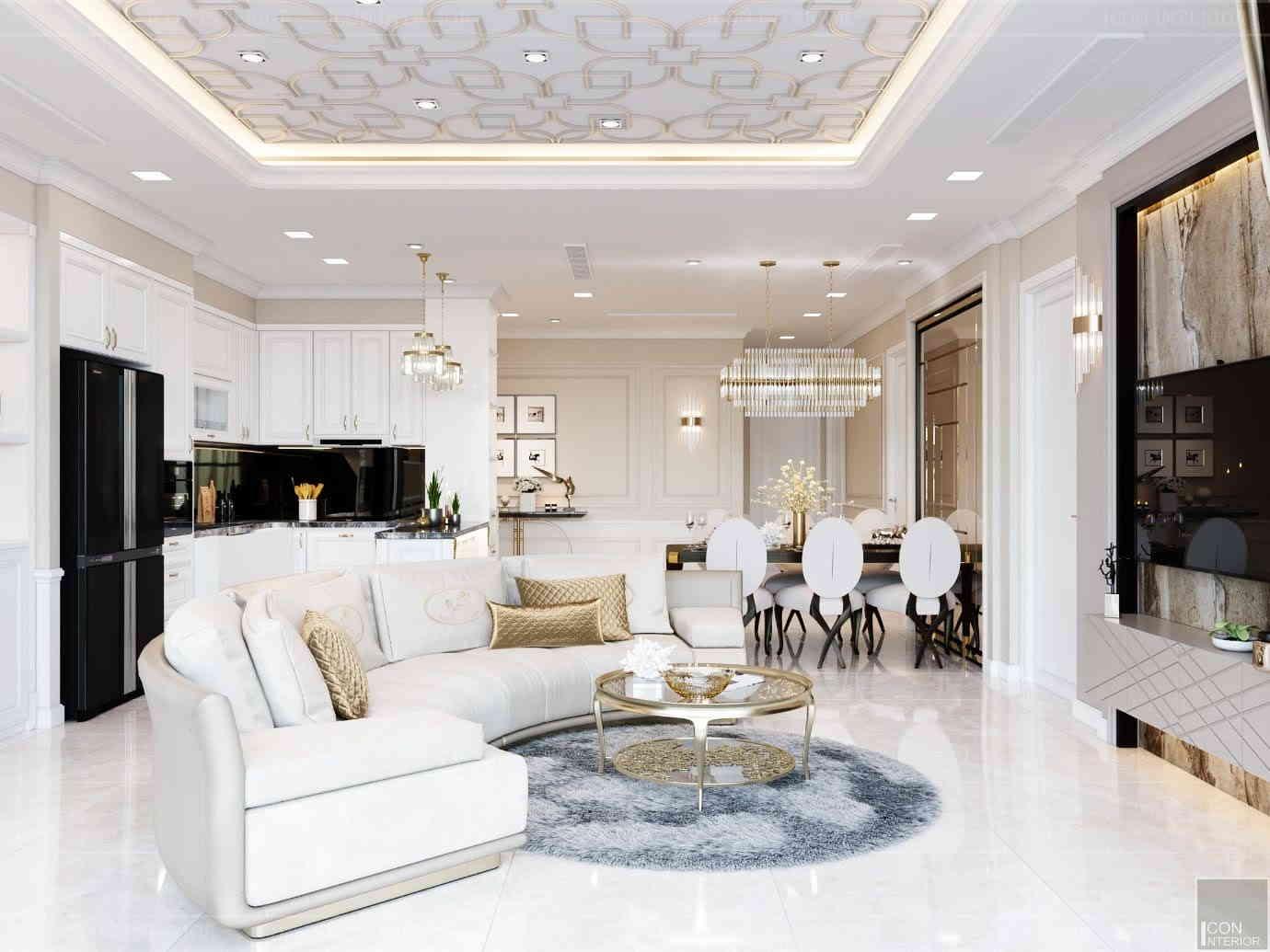 thiết kế nội thất phong cách cổ điển sang trọng