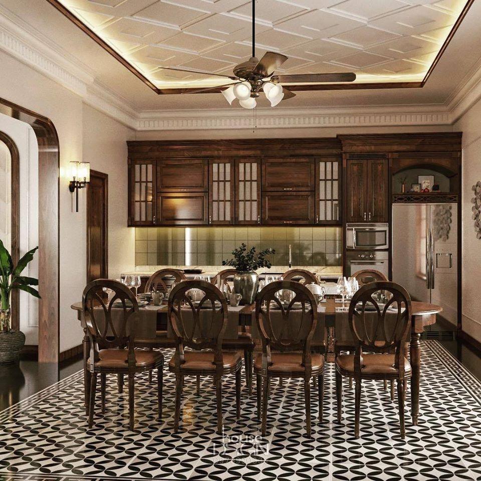 thiết kế nôị thất mix and match cho phòng ăn