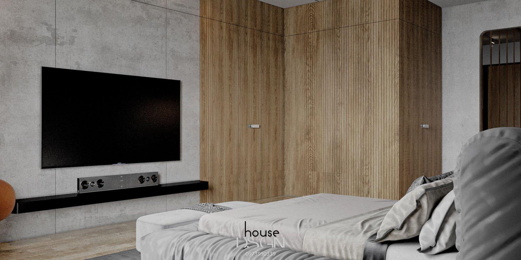 thiết kế nội thất mix and match phòng ngủ