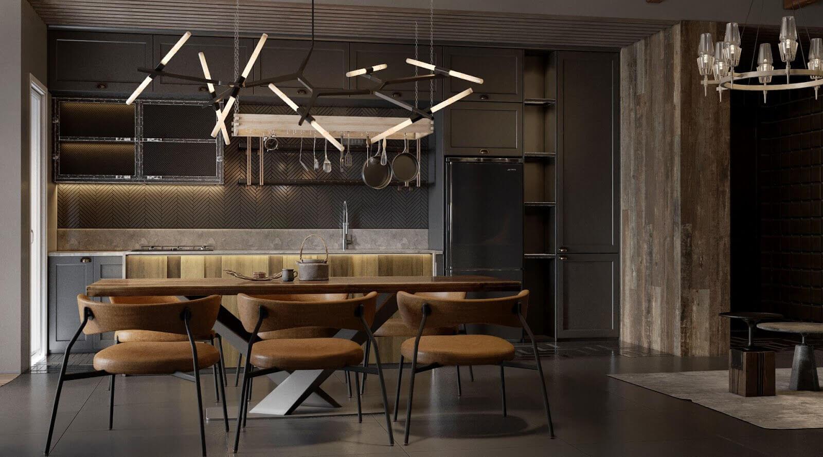 thiết kế nội thất phong cách industrial