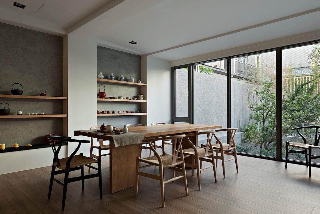 thiết kế nội thất phong cách japandi