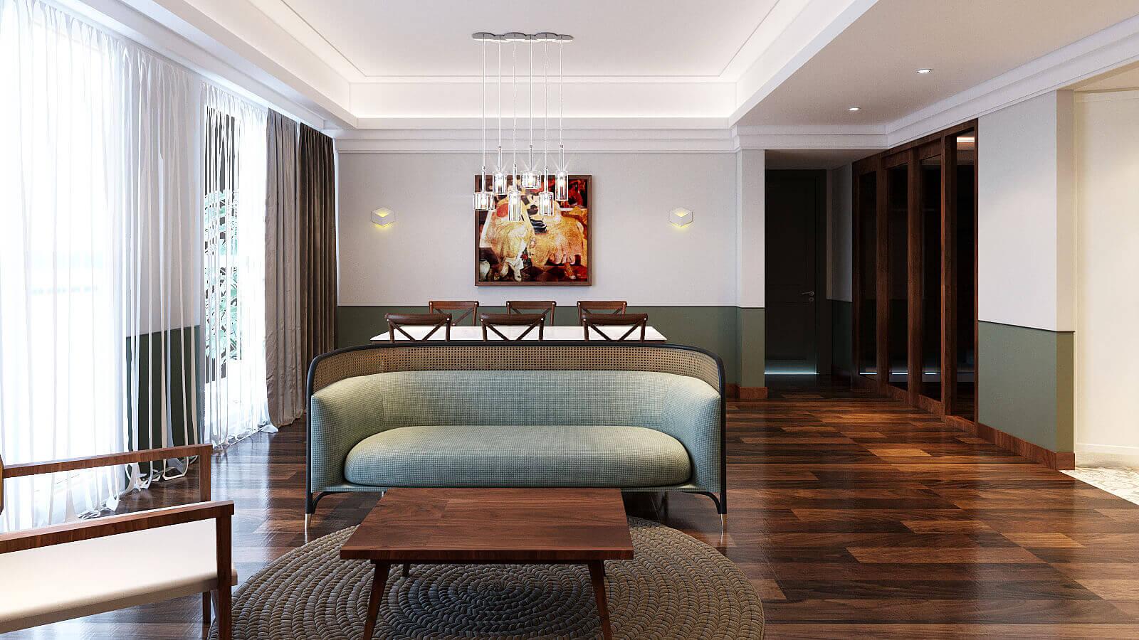 thiết kế nội thất phong cách kiến trúc indochine