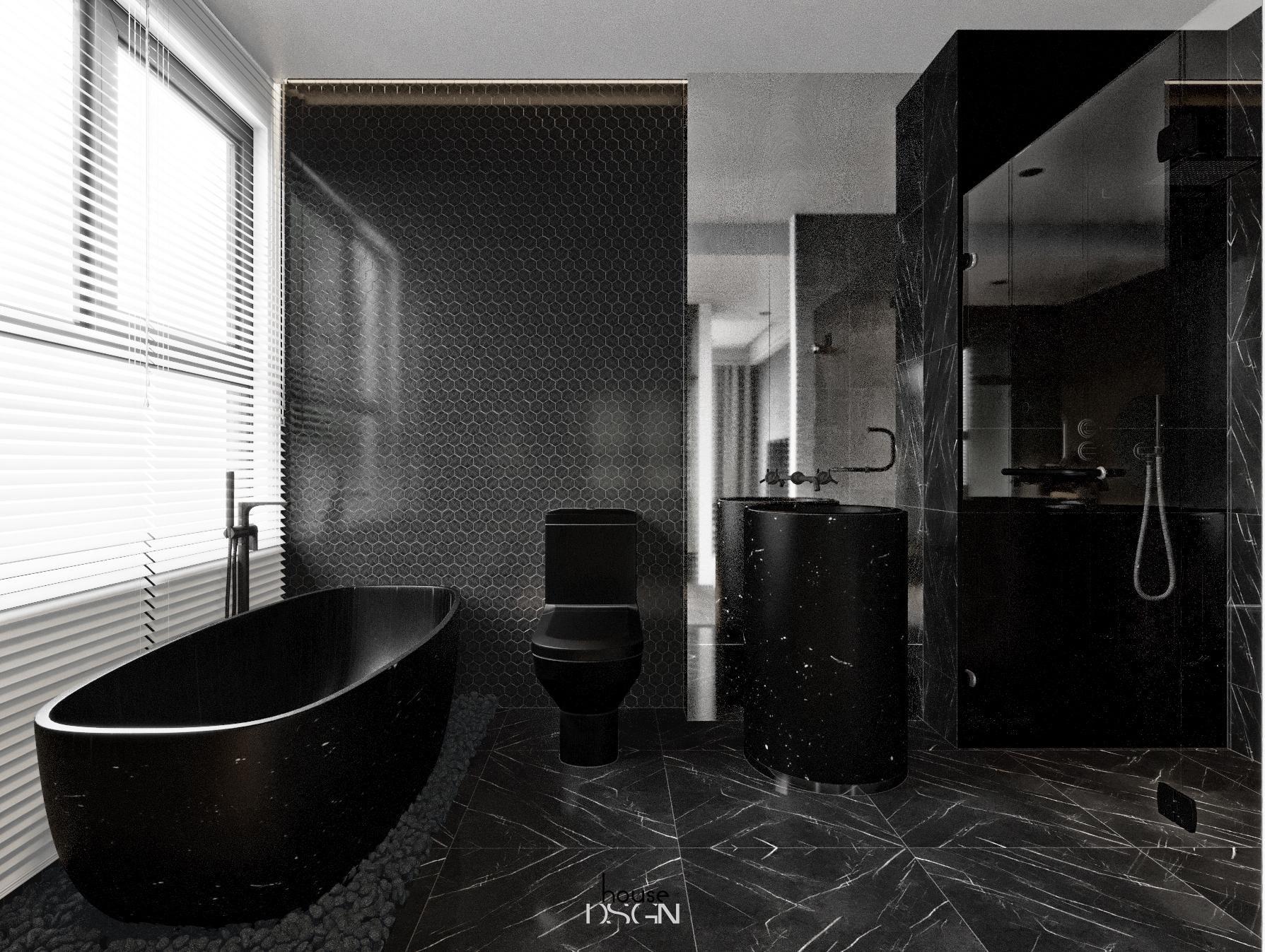 mẫu phong cách nội thất biệt thự cho phòng tắm