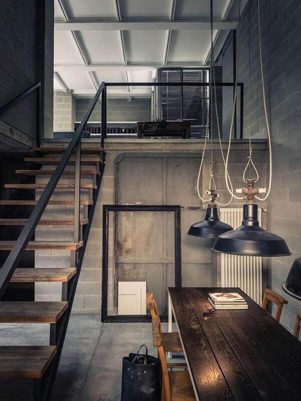 phong cách nội thất industrial hiện đại