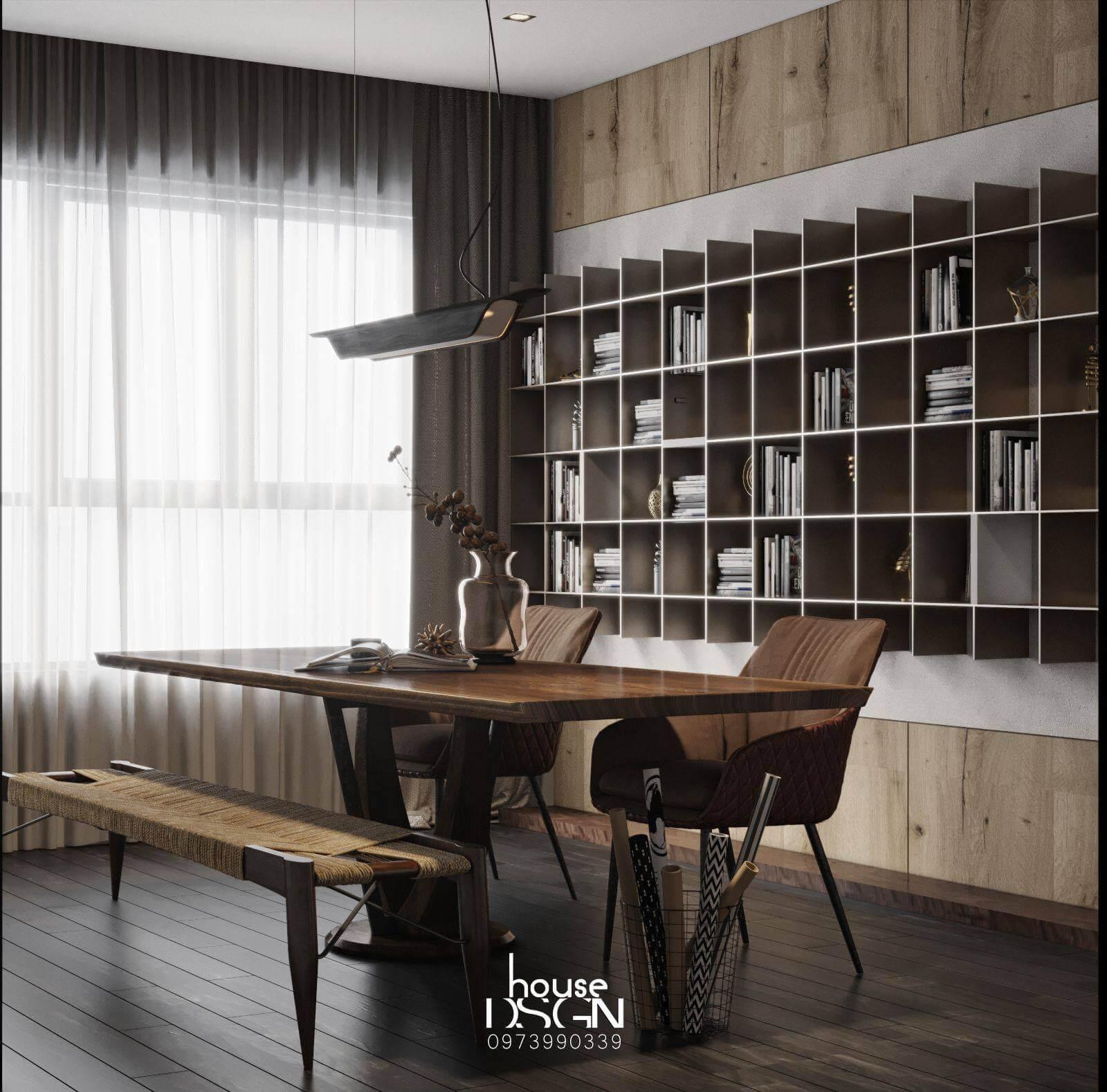 thiết kế phong cách nội thất rustic