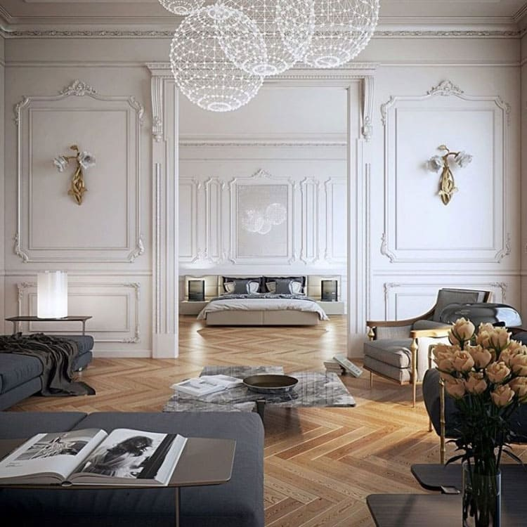 phong cách nội thất tân cổ điển