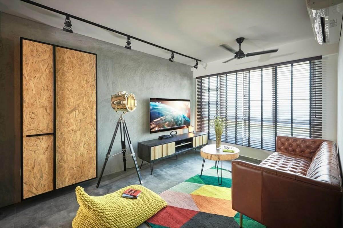 mẫu phong cách retro trong thiết kế nội thất