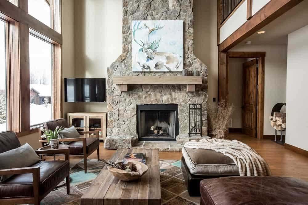 lò sưởi phong cách rustic - Housedesign
