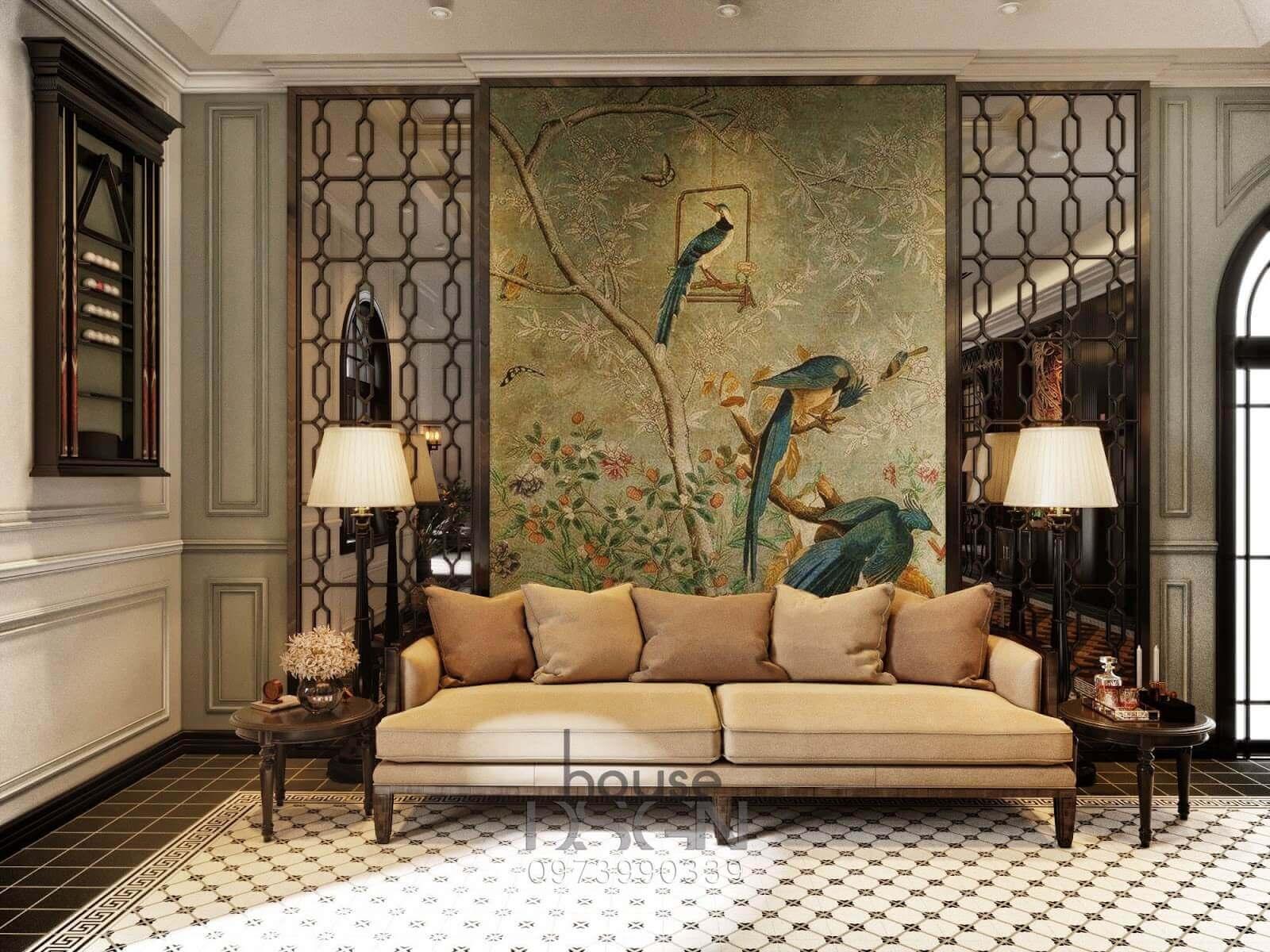 phong cách thiết kế nội thất đông dương đẹp