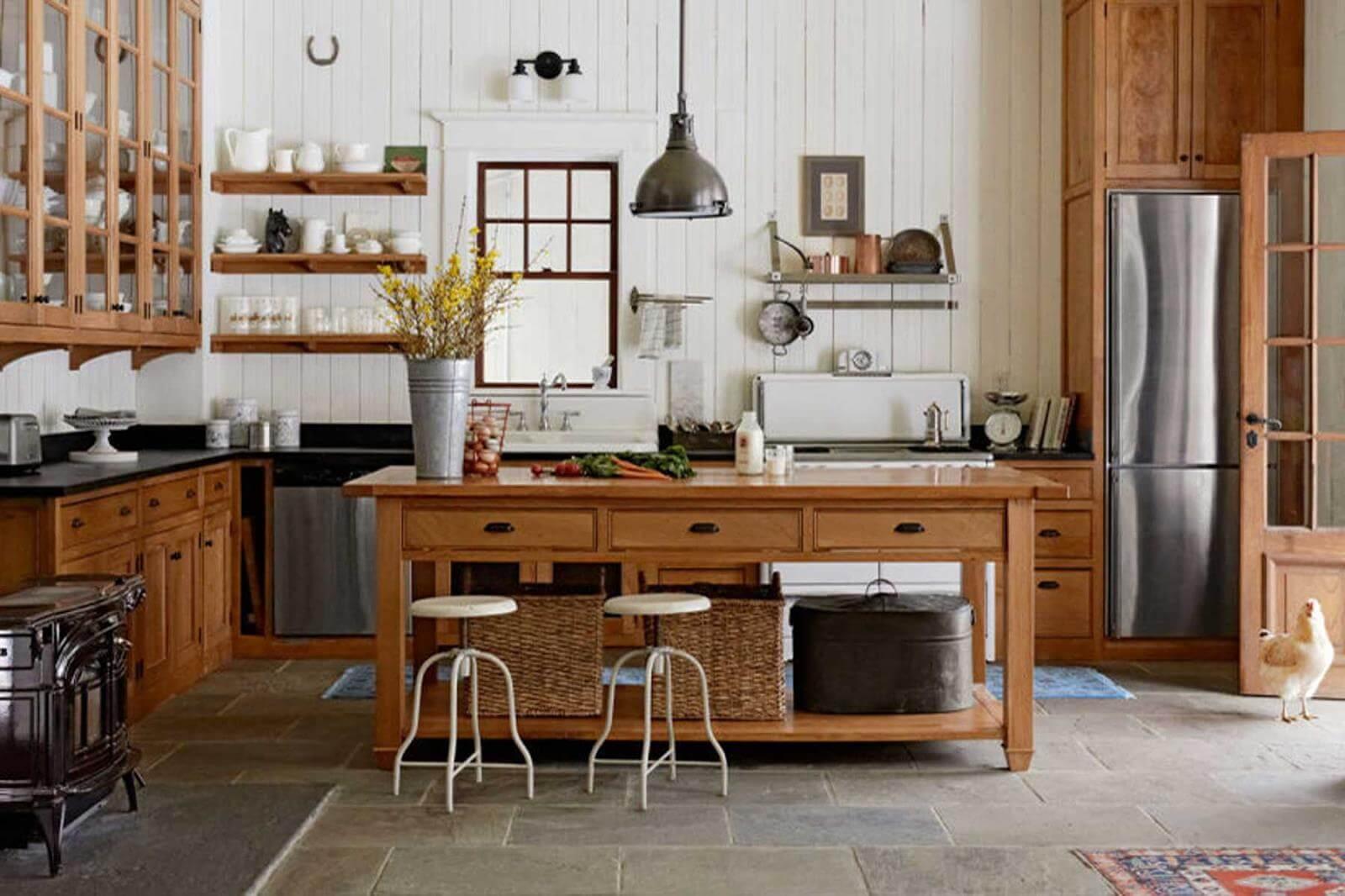 mẫu phong cách thiết kế nội thất đồng quê