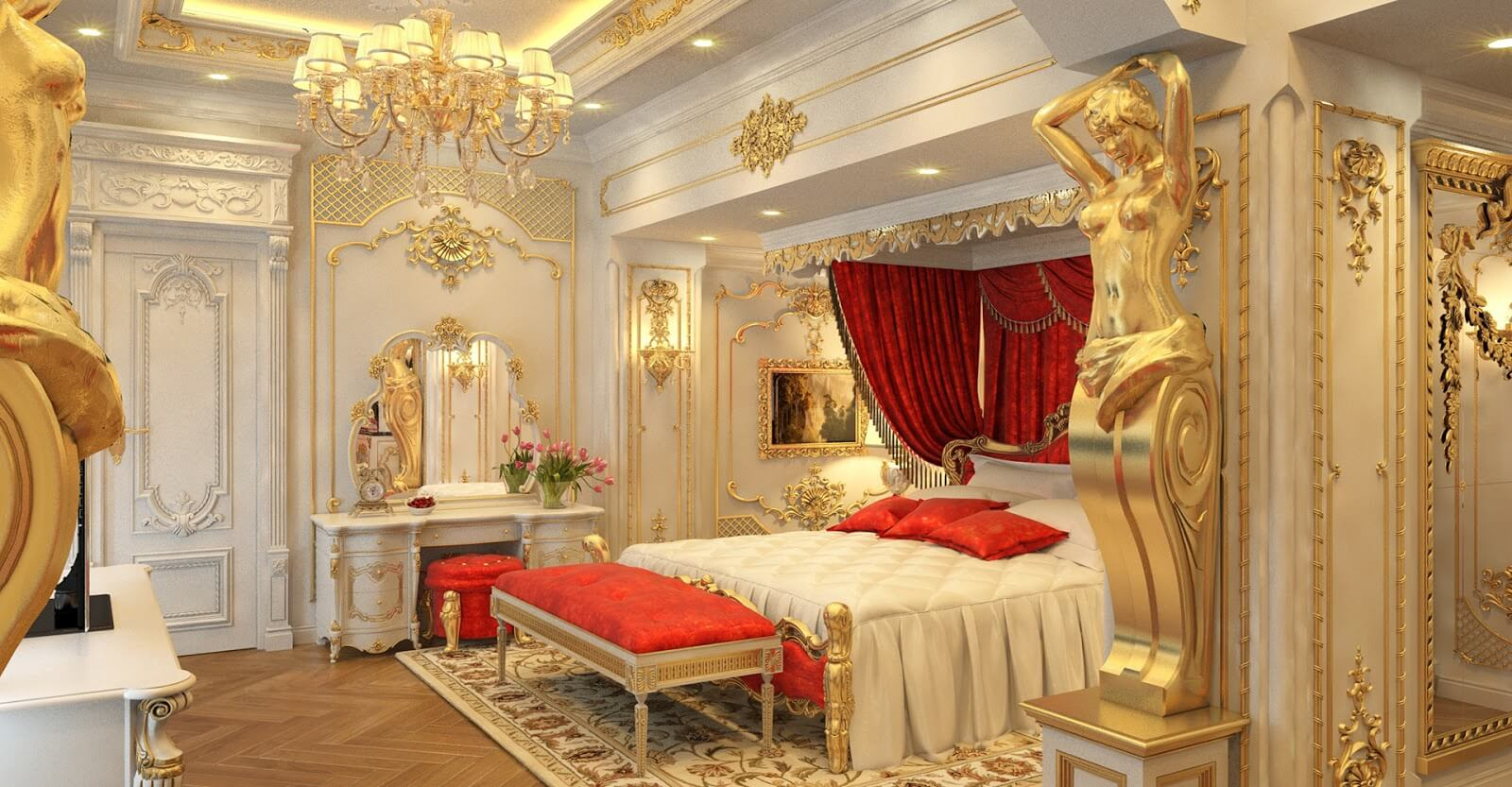 Phong cách thiết kế nội thất tân cổ điển sang trọng