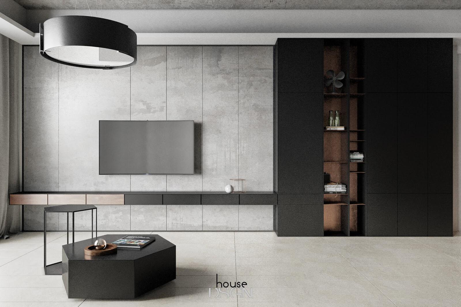 thiết kế phong cách tối giản trong nội thất