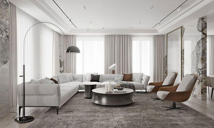 phòng khách theo thiết kế classic - Housedesign