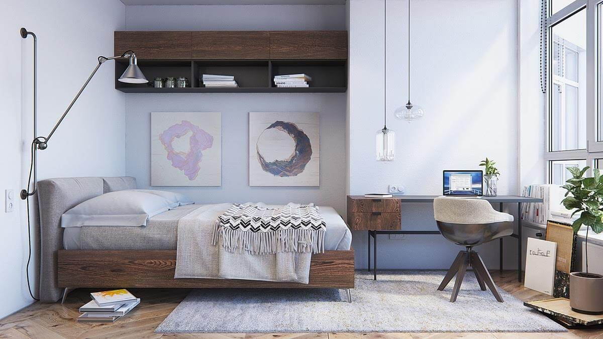 thiết kế phòng ngủ chuẩn phong cách bắc âu