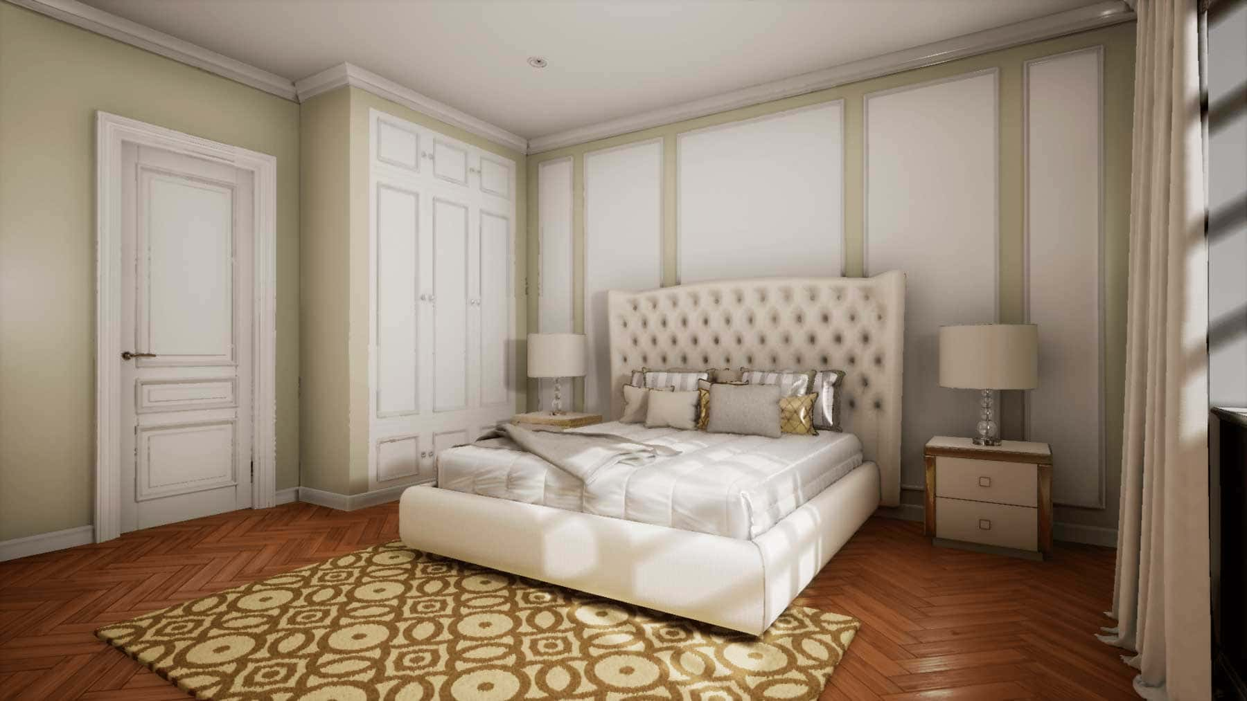 phòng ngủ theo thiết kế classic - Housedesign