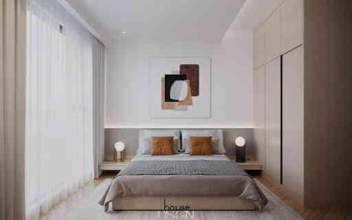 phong ngủ căn hộ feliz en vista đơn giản