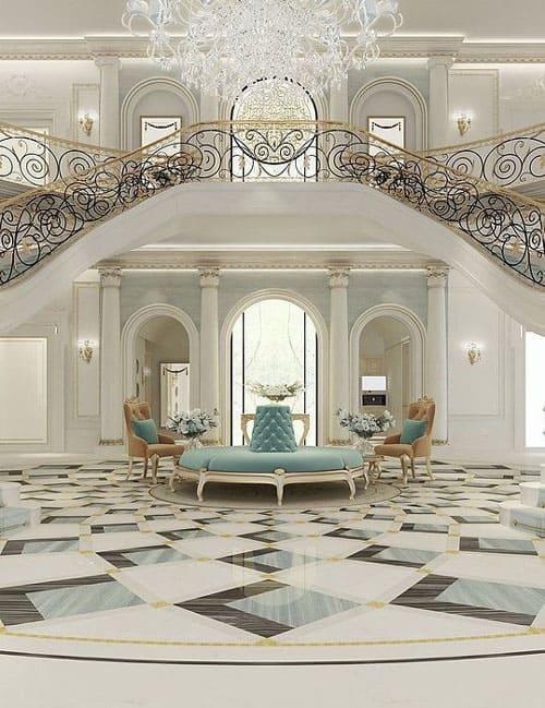 sàn nhà phong cách classic - Housedesign