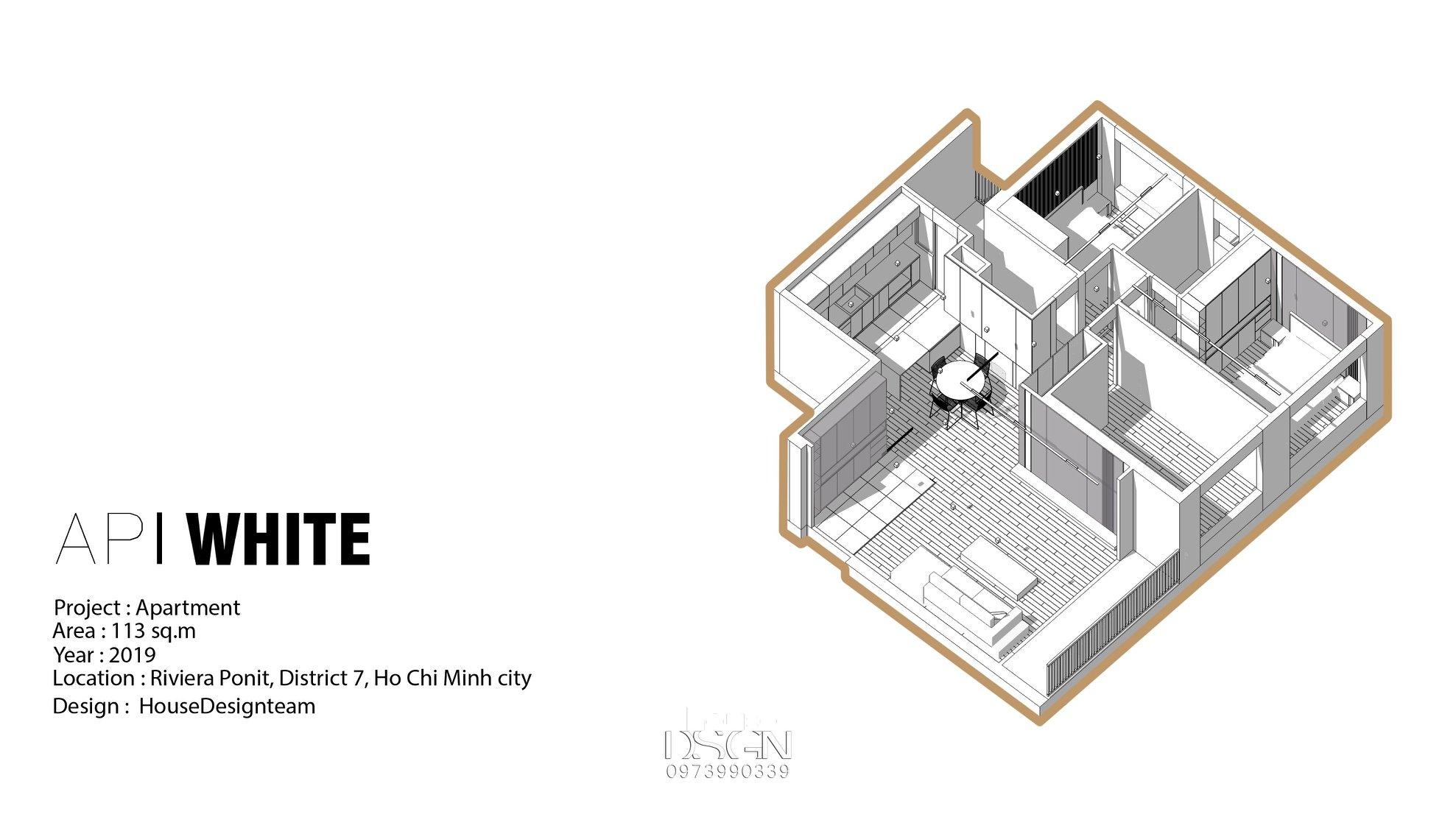 sơ đồ chung cư 3 phòng ngủ cho căn hộ chuẩn