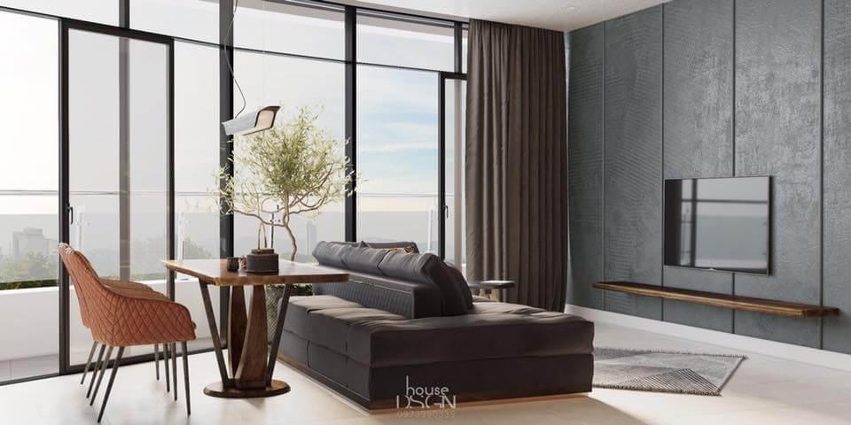 thiết kế căn hộ 100m2 3 phòng ngủ tiện nghi