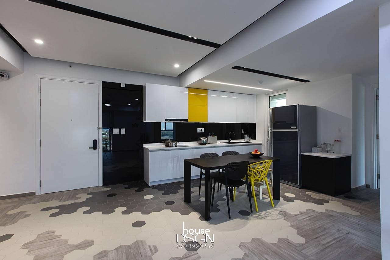 thiết kế căn hộ 3 phòng ngủ tiện nghi