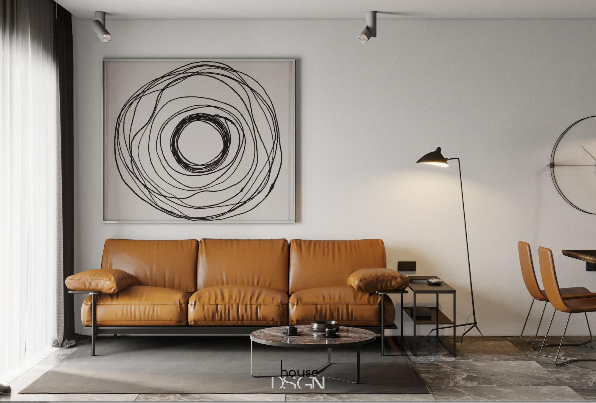 thiết kế căn hộ chung cư 60m2 tiện nghi