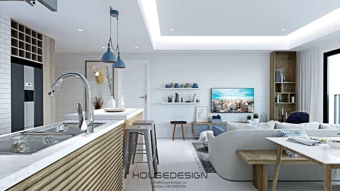 thiết kế căn hộ masteri an phú sang trọng