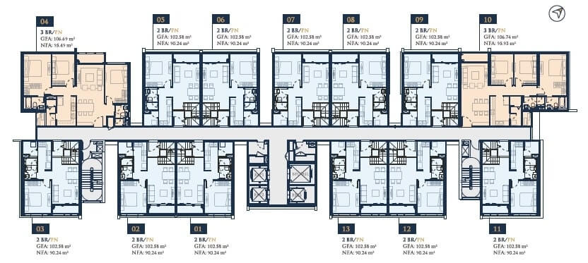 mẫu thiết kế căn hộ Feliz En Vista Cruz đẹp