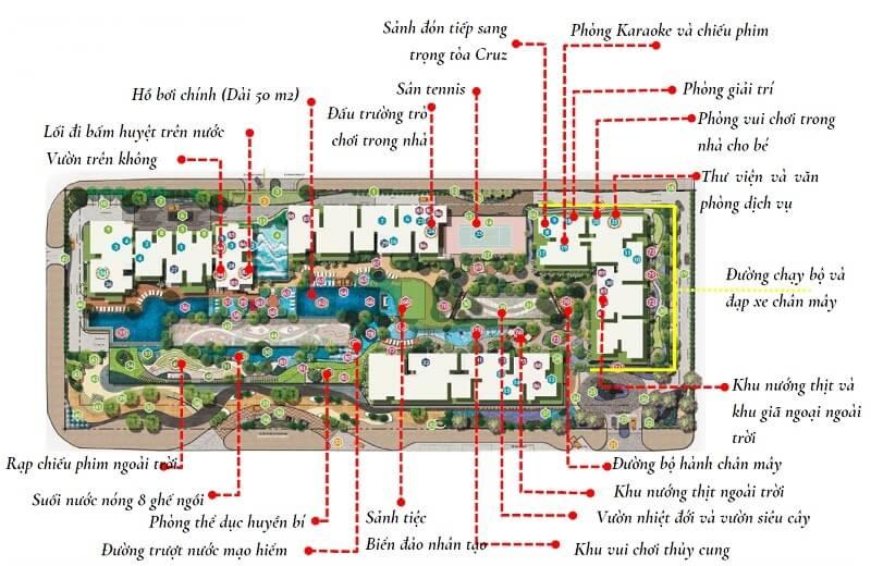 thiết kế căn hộ feliz en vista sang trọng