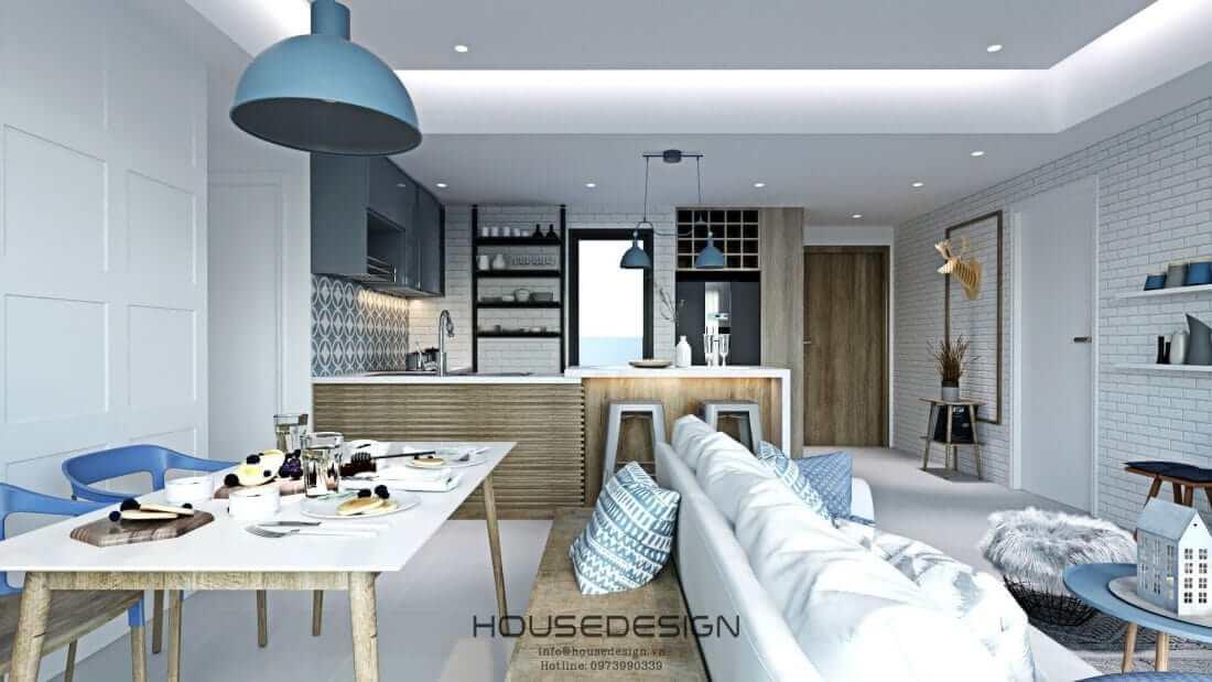 mẫu thiết kế căn hộ Masteri An Phú 2 phòng ngủ tiện nghi