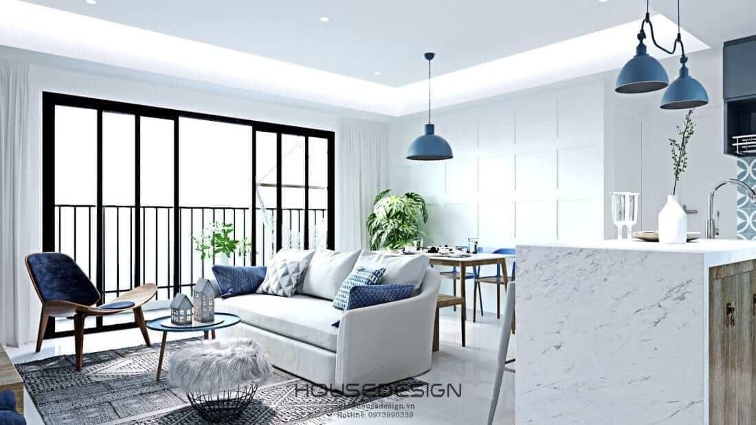 các mẫu thiết kế căn hộ Masteri An Phú 2 phòng ngủ
