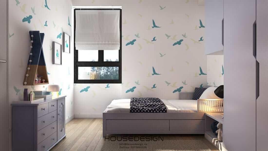 thiết kế căn hộ Masteri An Phú 2 phòng ngủ