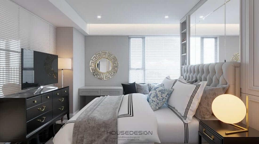thiết kế nội thất phòng ngủ căn hộ masteri an phú
