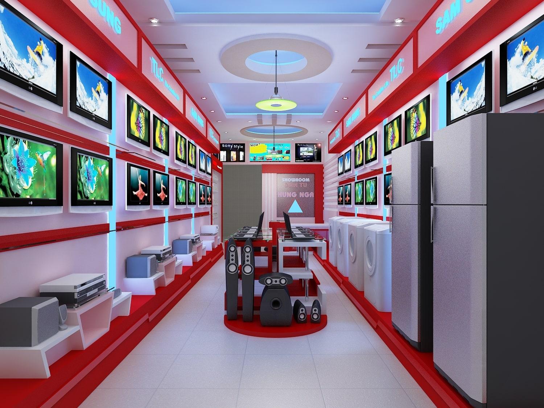 mẫu thiết kế đồ nội thất showroom
