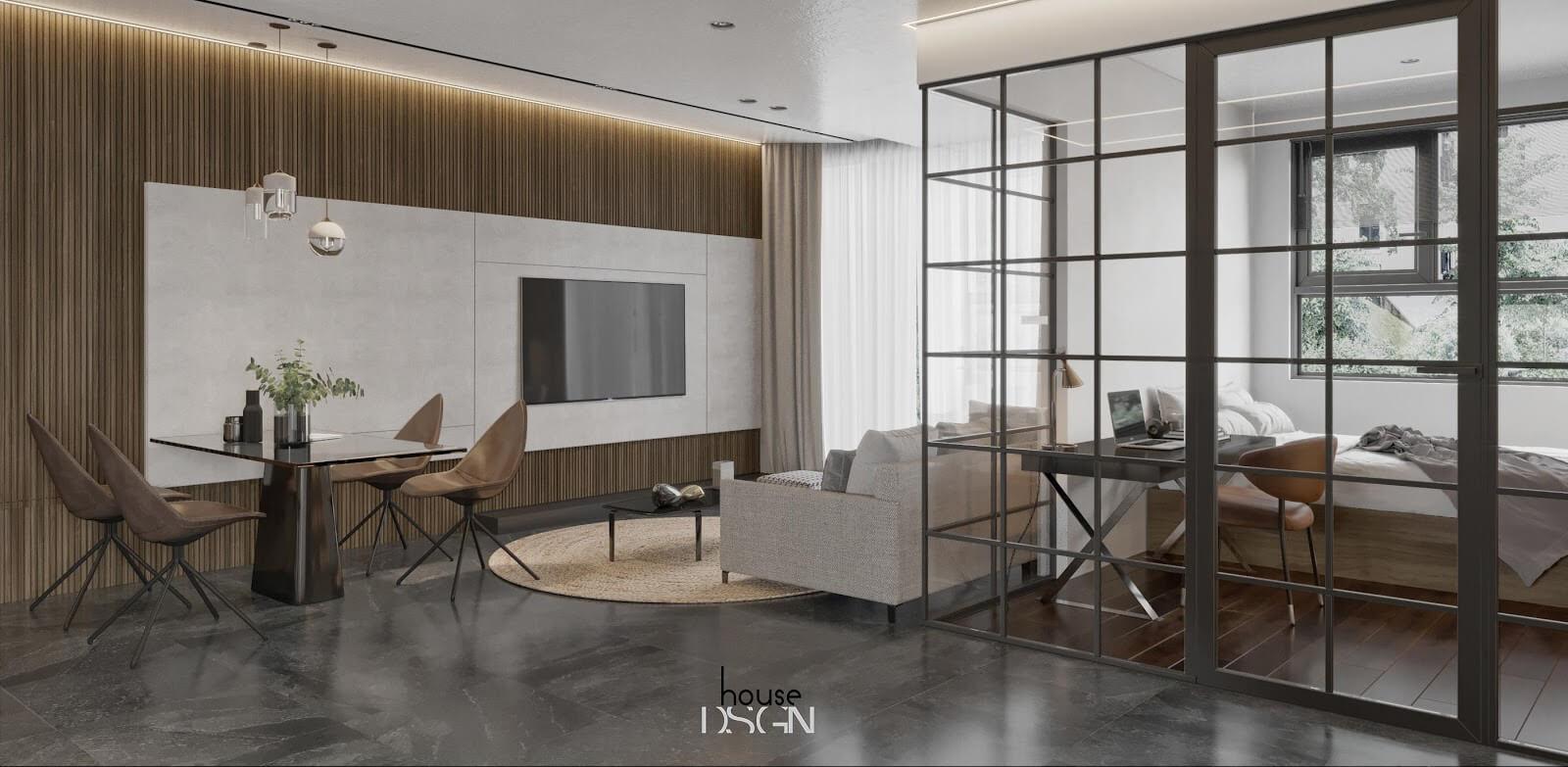 mẫu thiết kế không gian mở ấn tượng