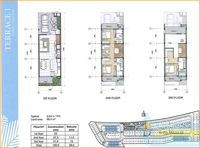 thiết kế nhà phố Palm City tiện nghi